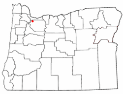 Location of Oatfield, Oregon