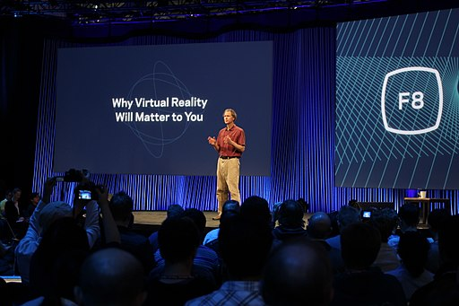 Oculus chief scientist Michael Abrash on stage at Facebook's F8 2015 (16800110868)