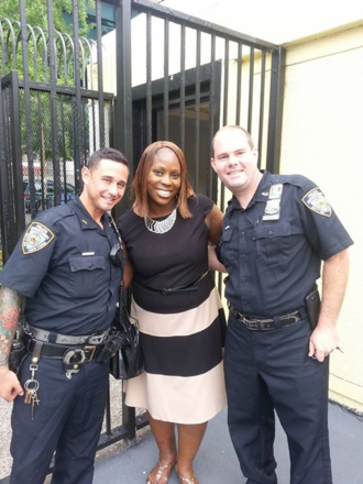 Vanessa Gibson - Image: Officers at mullaly pool