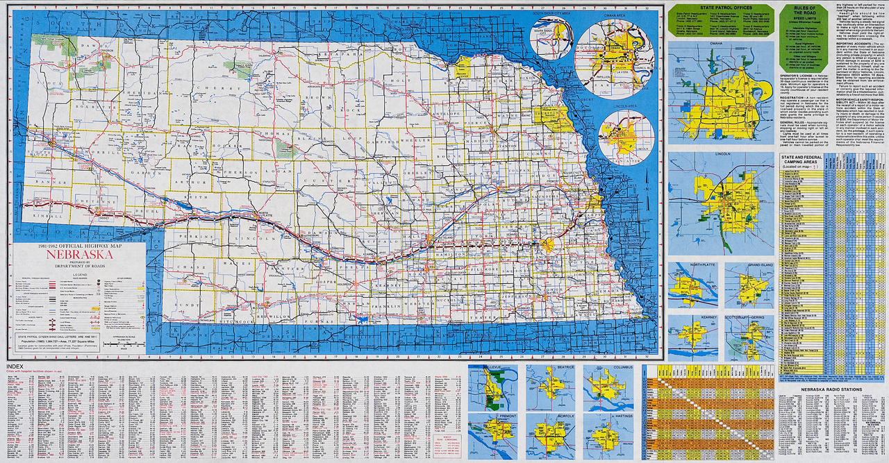 FileOfficial Map Nebraska State Highway System Png - Nebraska state map
