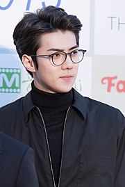 Oh Se-hun - 2016 Gaon Chart K-pop Awards red carpet.jpg