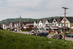 Glassport, Pennsylvania - A row of houses on the west side of the 800 block of Ohio Avenue