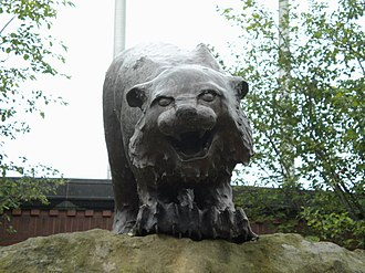 Ohio Bobcats - The Ohio Bobcat statue at Peden Stadium