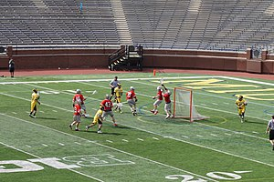 Ohio State Buckeyes men's lacrosse - Image: Ohio State vs. Michigan men's lacrosse 2015 27