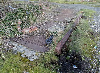 Girvan Old railway station - One of the old weighbridges.