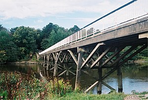 Lancaster Canal Tramroad - The 1960s replica bridge across the Ribble