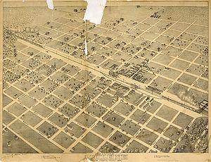 Abilene, Texas - An 1883 map of Abilene