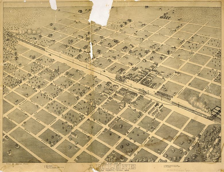 Description Old map-Abilene-1883.jpg