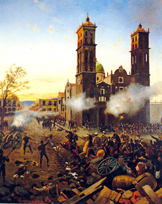 Third Battle of Puebla - Episode of the Battle of Puebla, April 2, 1867.