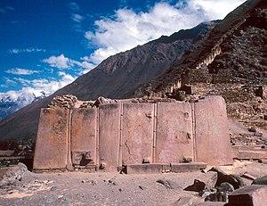 Ollantaytambo - Wall of the Six Monoliths