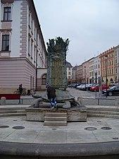 Olomouc, Horní náměstí, Arionova fontána (04).jpg