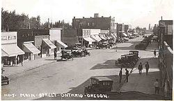 Main Street (now Oregon Street) looking south, early 1920s