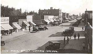 Ontario, Oregon - Main Street (now Oregon Street) looking south, early 1920s