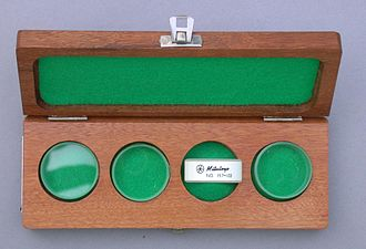 Lapping - optical flats in wooden case