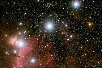 Mintaka - Image: Orion Belt 2009 01 29