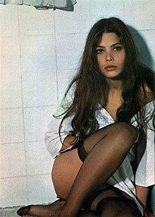 Ornella Muti in uno scatto di scena sul set di Appassionata del 1974