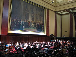 Argentine National Symphony Orchestra - The National Symphony Orchestra performs Gustav Mahler's Symphony No. 2 at the University of Buenos Aires Law School.