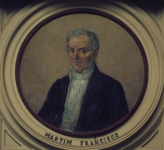 Martim Francisco Ribeiro de Andrada - Portrait by Oscar Pereira da Silva