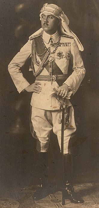 Osman Fuad - Prince Osman Fuad in Ottoman uniform as Commander-in-Chief of Ottoman forces in Libya (wearing his military decorations including the Gallipoli Star)
