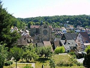 Otterberg - Image: Otterberg mit Abteikirche (255732090)