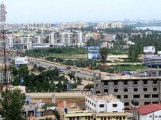 Outer Ring Road, Bangalore - Image: Outer ring road area shot from Ilife Apartments Top Floor