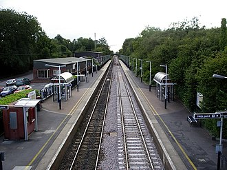 Overton railway station - Image: Overton station geograph.org.uk 220653