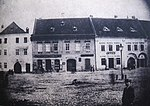 Overview of Habsburg hotel in Třebíč, next to hotel is Ceplichal café, photo of eighties of 19th century.jpg