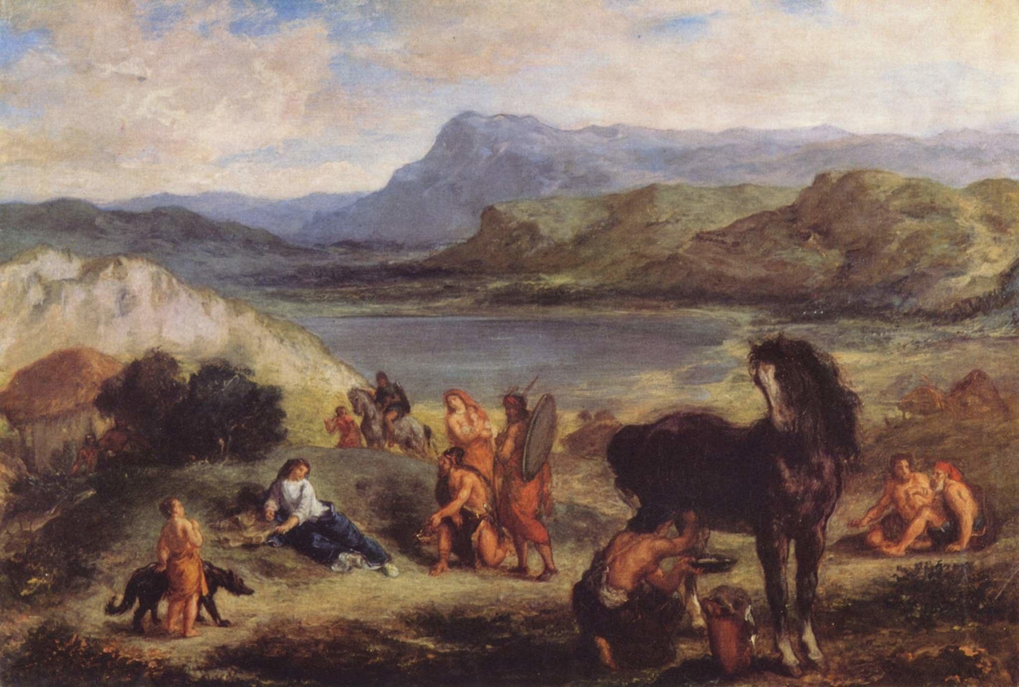 Ovide chez les Scythes (Delacroix) National Gallery