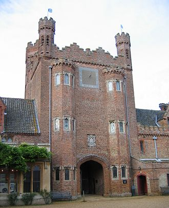 Tudor architecture - Gatehouse of Oxburgh Hall in Oxborough
