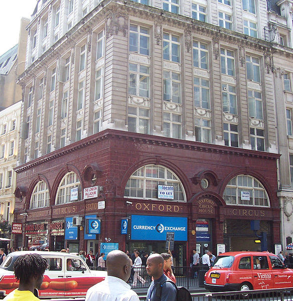 File:Oxford Circus tube station - Bakerloo line entrance.jpg