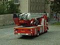 Písek, Na Bakalářích, hasičské auto.JPG
