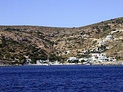 Megalo Chorio, bến cảng chính của Agathonisi