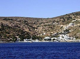 Agathonisi, with the small harbor of Agios Georgios