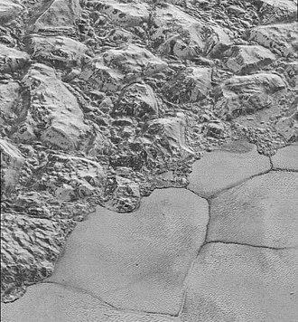 Geography of Pluto - Dune fields in Sputnik Planitia near Planitia