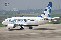 PK-TXG Boeing 737 Expressair (7352581592).jpg