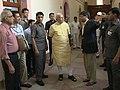 PM Narendra Modi takes a round of the PMO on 3 June 2014.jpg