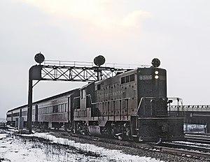 Calumet (train) - Valparaiso local train entering Chicago in 1964
