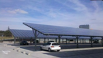 Building-integrated photovoltaics - Photovoltaic wall near Barcelona, Spain