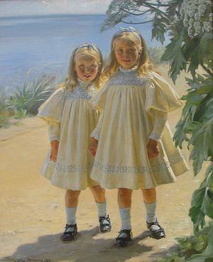 Sibling - The Benzon Daughters by Peder Severin Krøyer