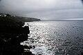 Paisagem costeira em dia de tempestade, São João, concelho das Lajes do Pico, ilha do Pico, Açores, Portugal.JPG