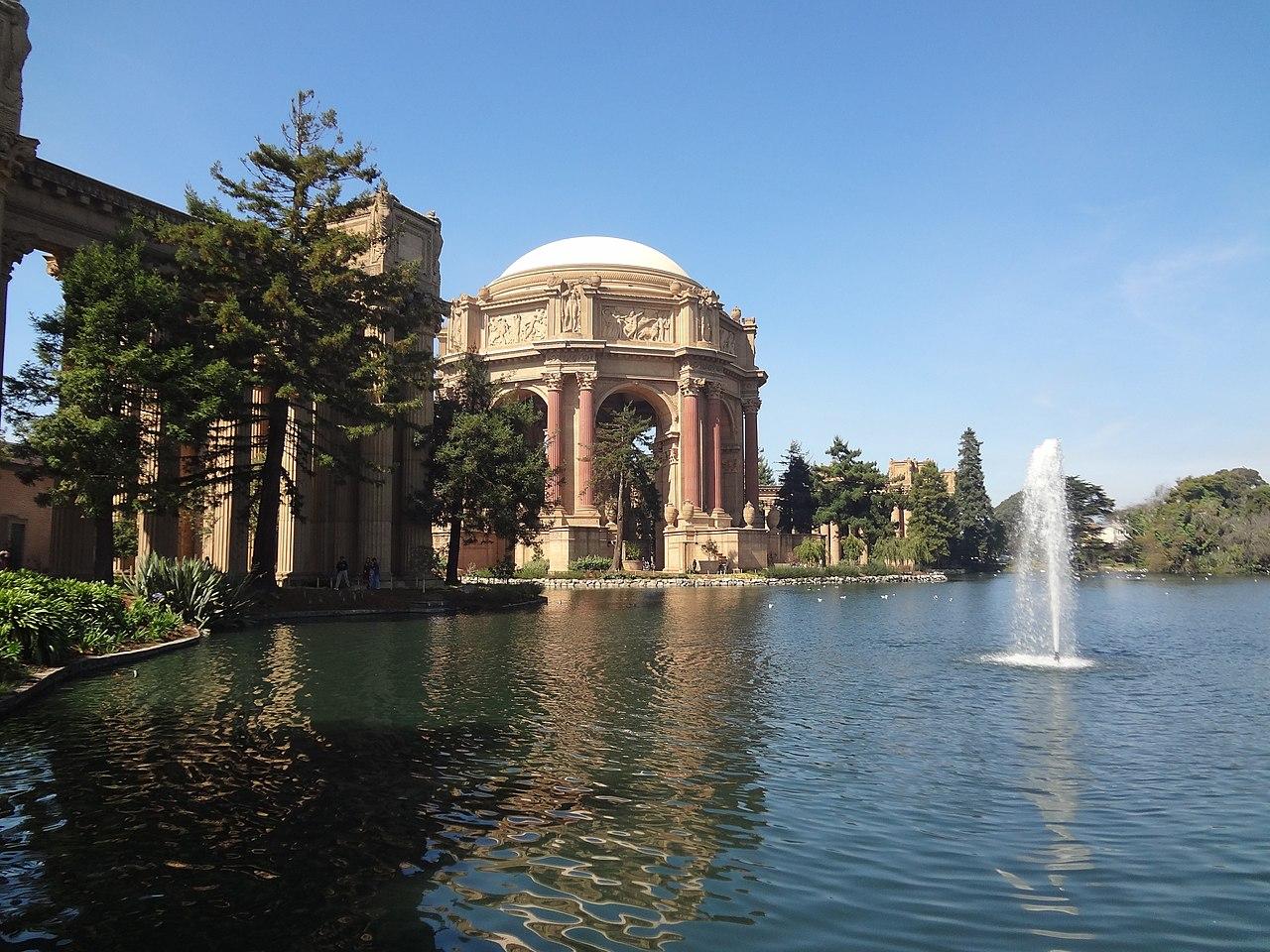 File Palace Of Fine Arts Fountain San Francisco Ca Usa