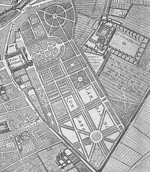 Jacques Boyceau - Image: Palais du Luxembourg on 1652 Gomboust map Geographicus