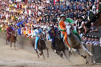Palio - The Palio of Siena, the most important.