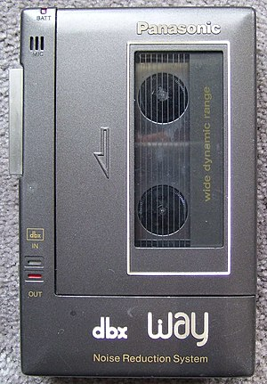 Dbx (noise reduction) - The Panasonic RQ-J20X portable cassette player from 1982 was the first device to implement the dbx integrated circuit