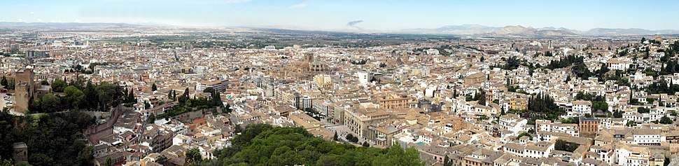 A panoramic view from Alhambra
