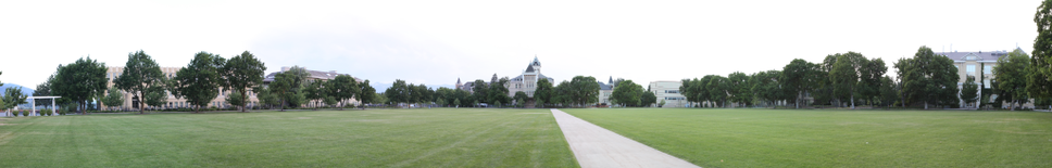 Panoramic view of the Quad