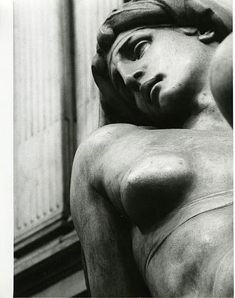 Dawn (Michelangelo) - Detail photograph by Paolo Monti, 1975