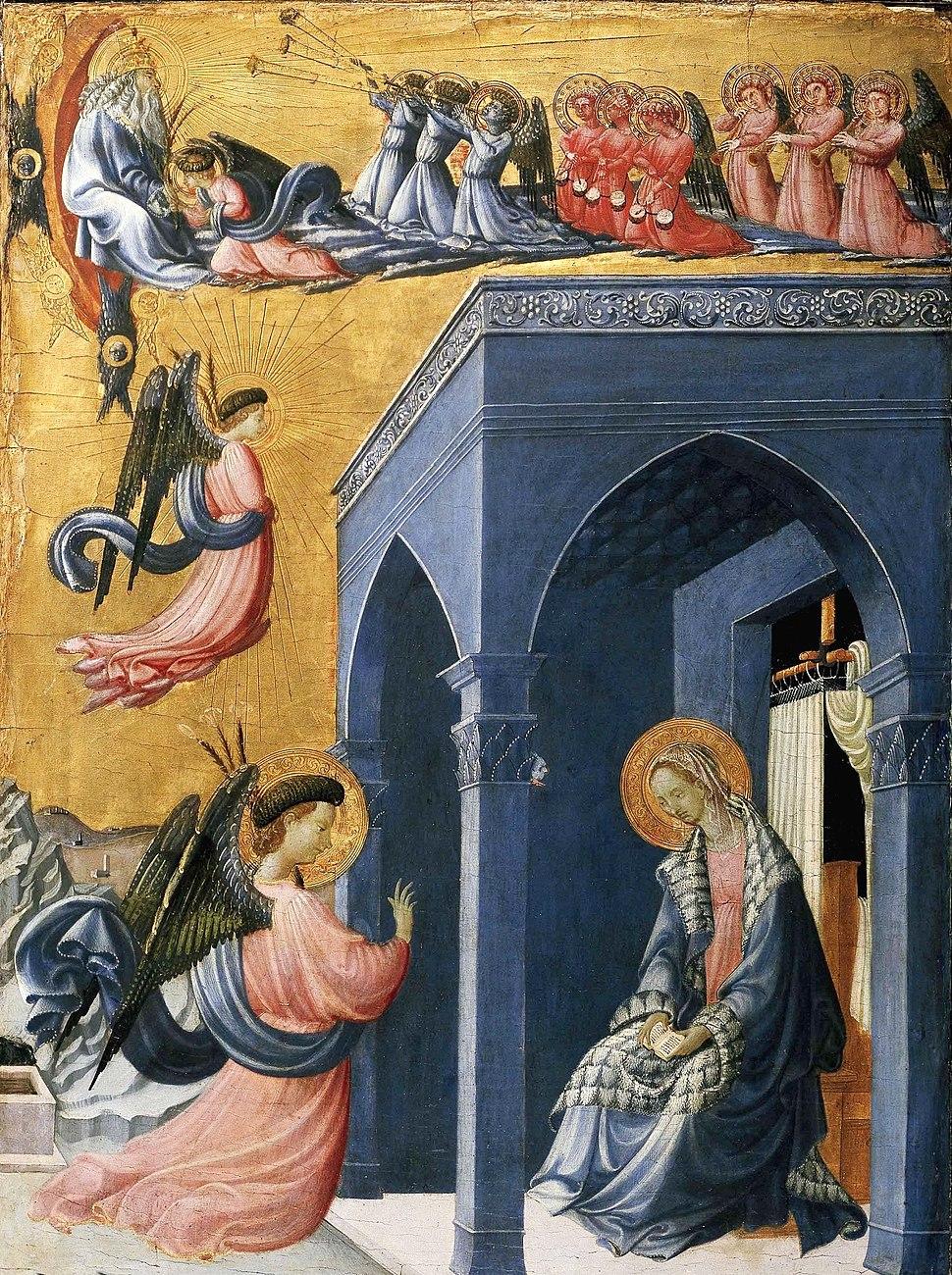 Paolo uccello, annunciazione, ashmolean