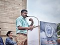 Param Vir Chakra Awardee Yogendra Yadav speaking at India Gate on Kargil Vijay Divas 2018.jpg