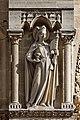 Paris - Cathédrale Notre-Dame - Façade ouest - Statue - PA00086250 - 004.jpg